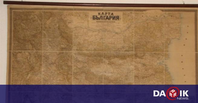 Pokazvat Prvata Podrobna Blgarska Georgrafska Karta Stara