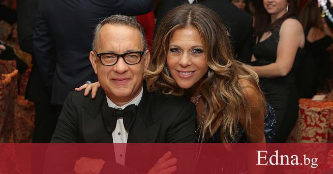 Известният актьор Том Ханкс и неговата съпруга Рита Уилсън- първите