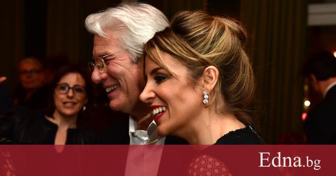 Холивудският сърцеразбивач Ричард Гиър и испанската журналистика Алехадра Силва минаха