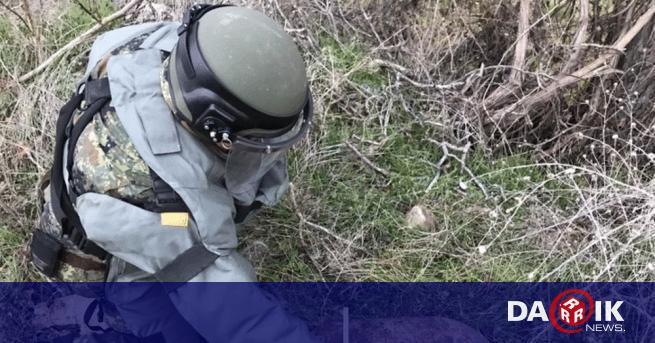 Невзривен снаряд е намерен в частен имот в село Долно