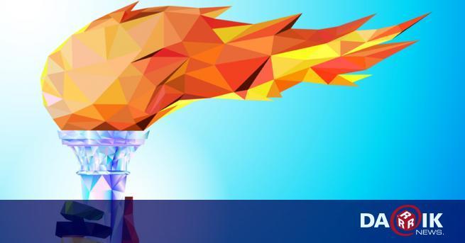 Олимпийският огън за Зимните олимпийски игри през 2022 г. беше
