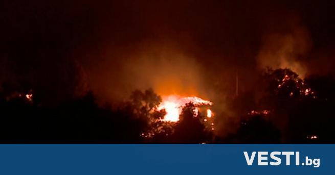 О громен пожар бушува в кюстендилското Долно село. Изпепелени са