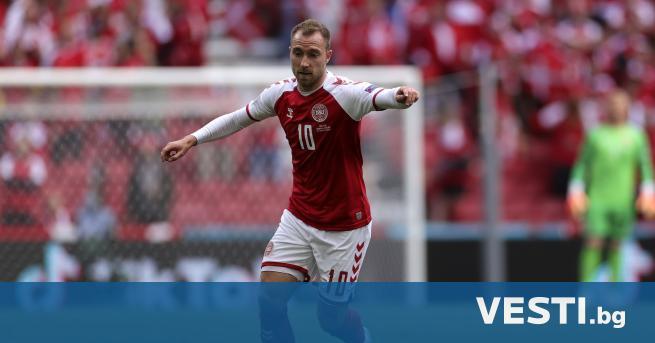 О т Датската футболна асоциация обявиха, че на Кристиан Ериксен