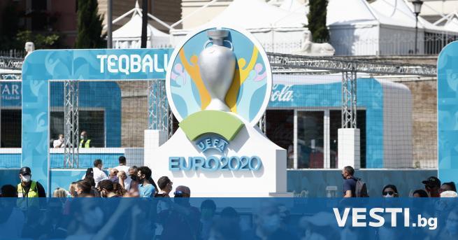 С транен инцидент беляза една от срещите на UEFA EURO
