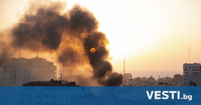 И зраелски въздушни удари разрушиха частично висока сграда в ивицата
