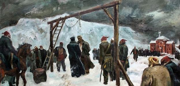 """Картината """"Обесването на Васил Левски"""" на Борис Ангелушев"""
