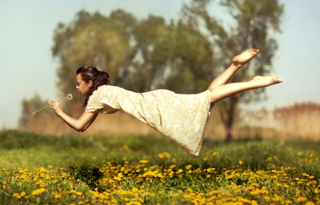 жена глухарче мечти свобода лято щастие аромат