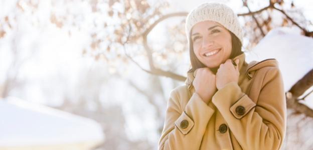 жена зима сняг щастие