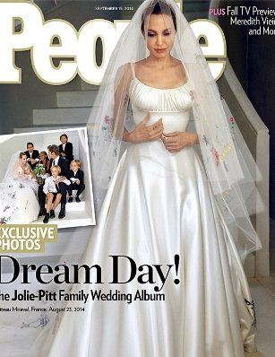 Анджелина Джоли рокля сватба