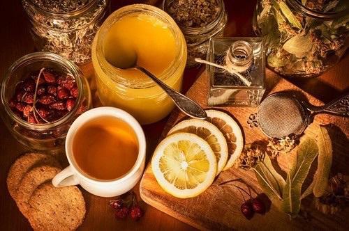мед лимон
