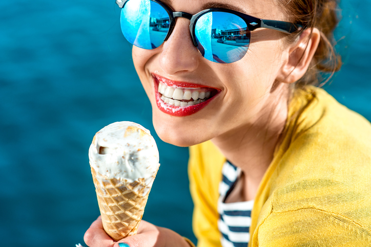 сладолед храна сандвич жена отслабване