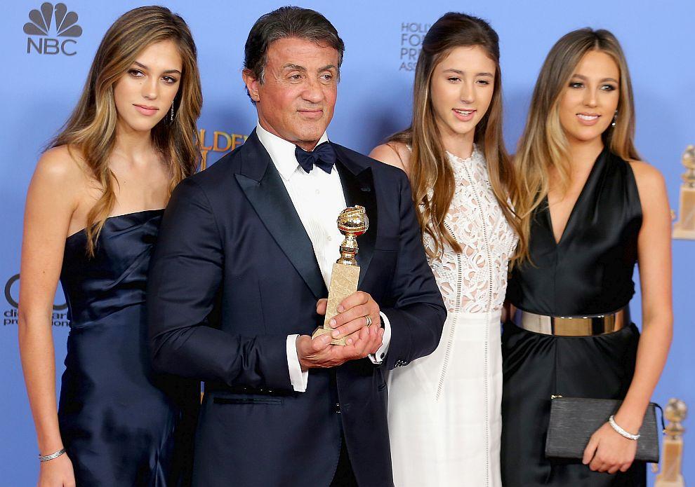 Силвестър Сталоун с дъщерите си Систийн, Скарлет и София