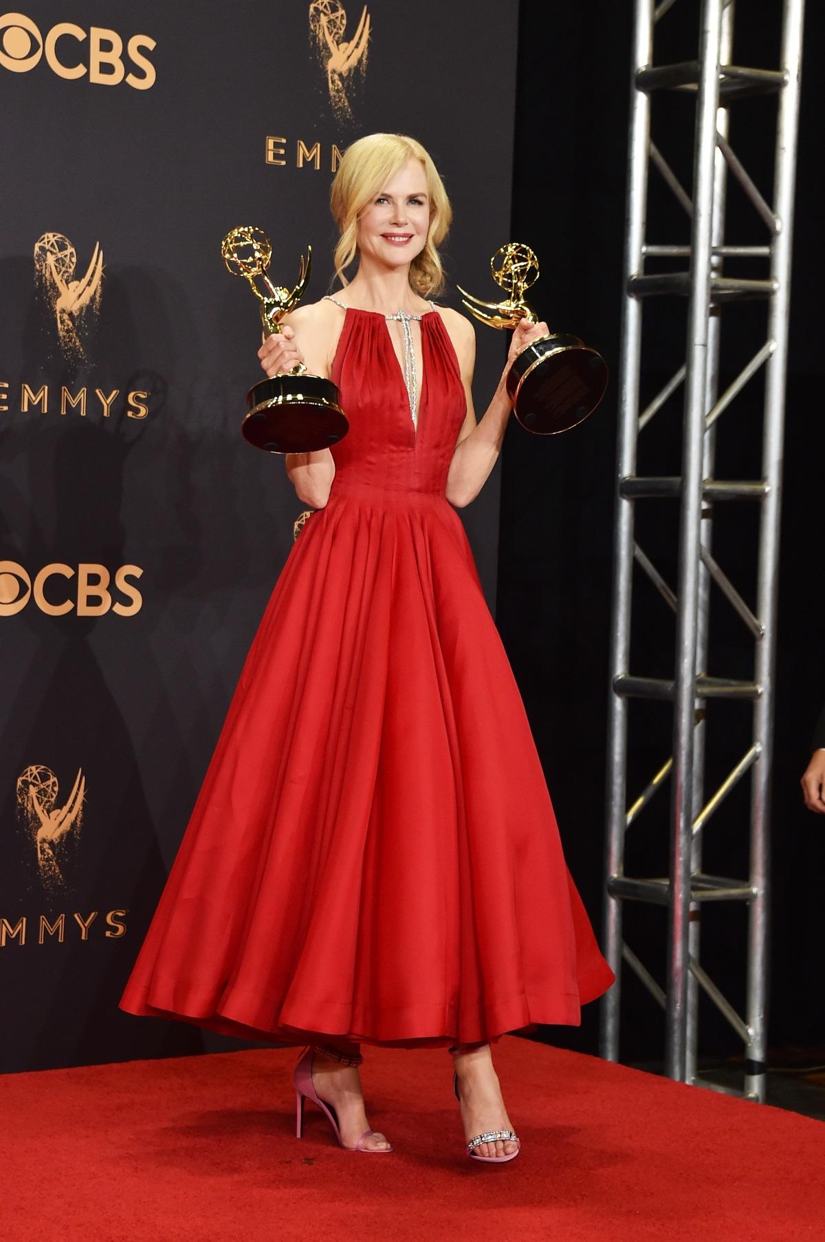 """Никол Кидман на наградите """"Еми"""" (2017 г.)"""