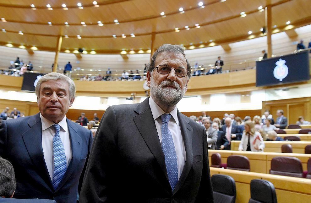 Горната камара на испанския парламент упълномощи правителството на министър-председателя Мариано Рахой да управлява пряко Каталуния от Мадрид