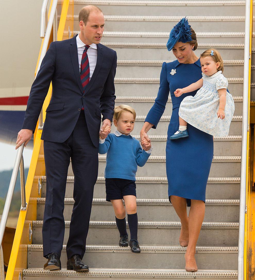 Уилям, Кейт, Джордж и Шарлот пристигат в Канада през септември 2016 година