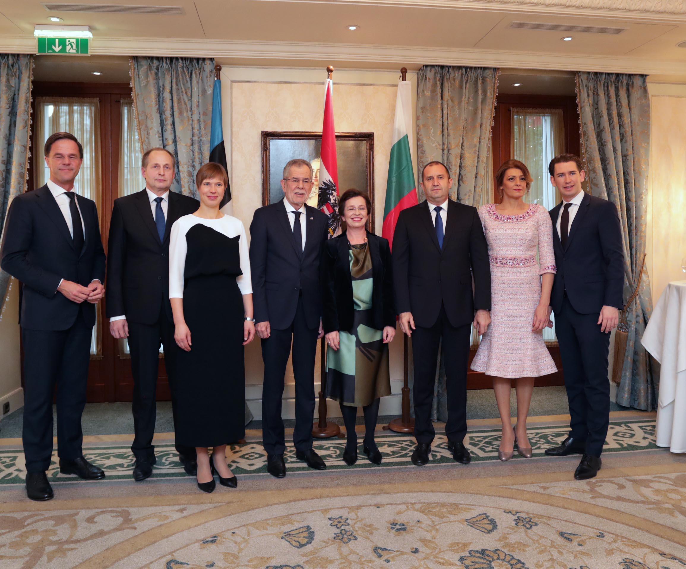 По време на официални срещи на 1 януари 2018 г. в столицата на Австрия, Виена.