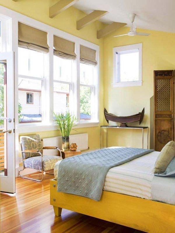 Заложете на ярки цветове в спалнята, за да сте в прекрасно настроение през цялата година