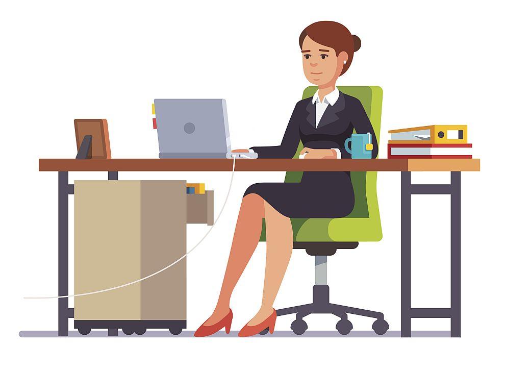 офис бюро жена