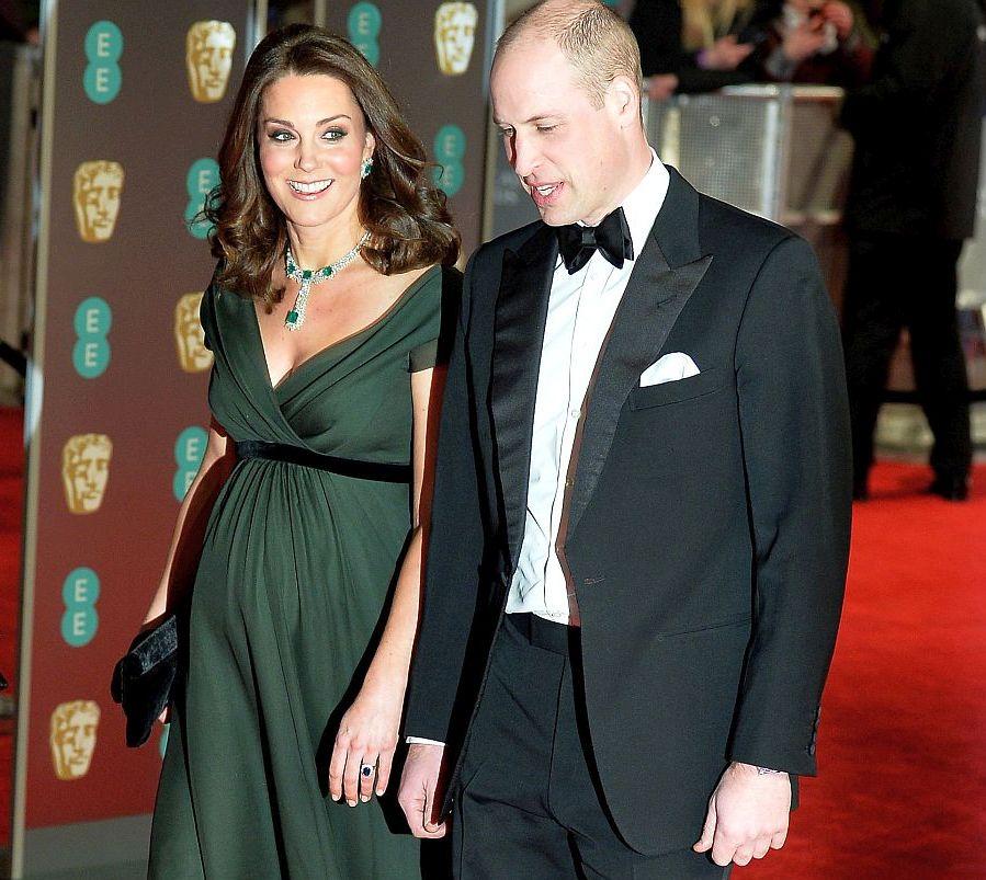 Принц Уилям и херцогиня Катрин бяха почетни гости на наградите БАФТА