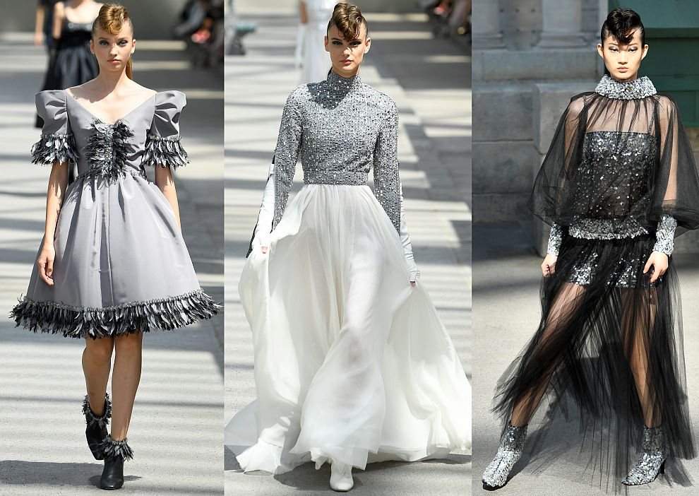 Модели от колекцията Карл Лагерфелд за Шанел в Париж
