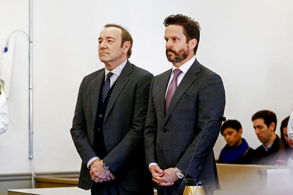 Кевин Спейси с адвоката си Алън Джаксън