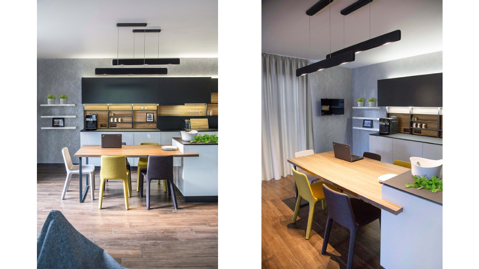 дизайн кухня осветление лампи ATG Design