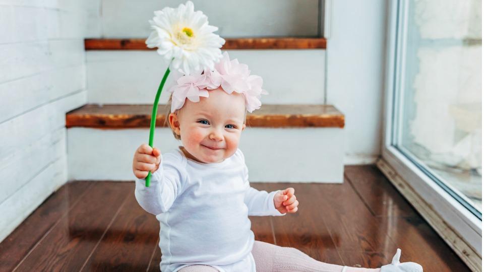 дете цветя момиче момче