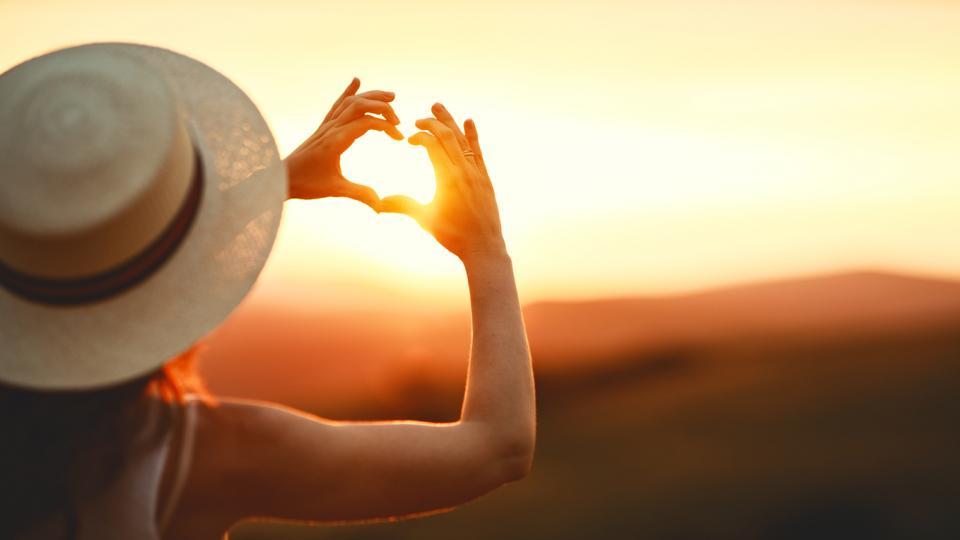 жена лято природа щастие